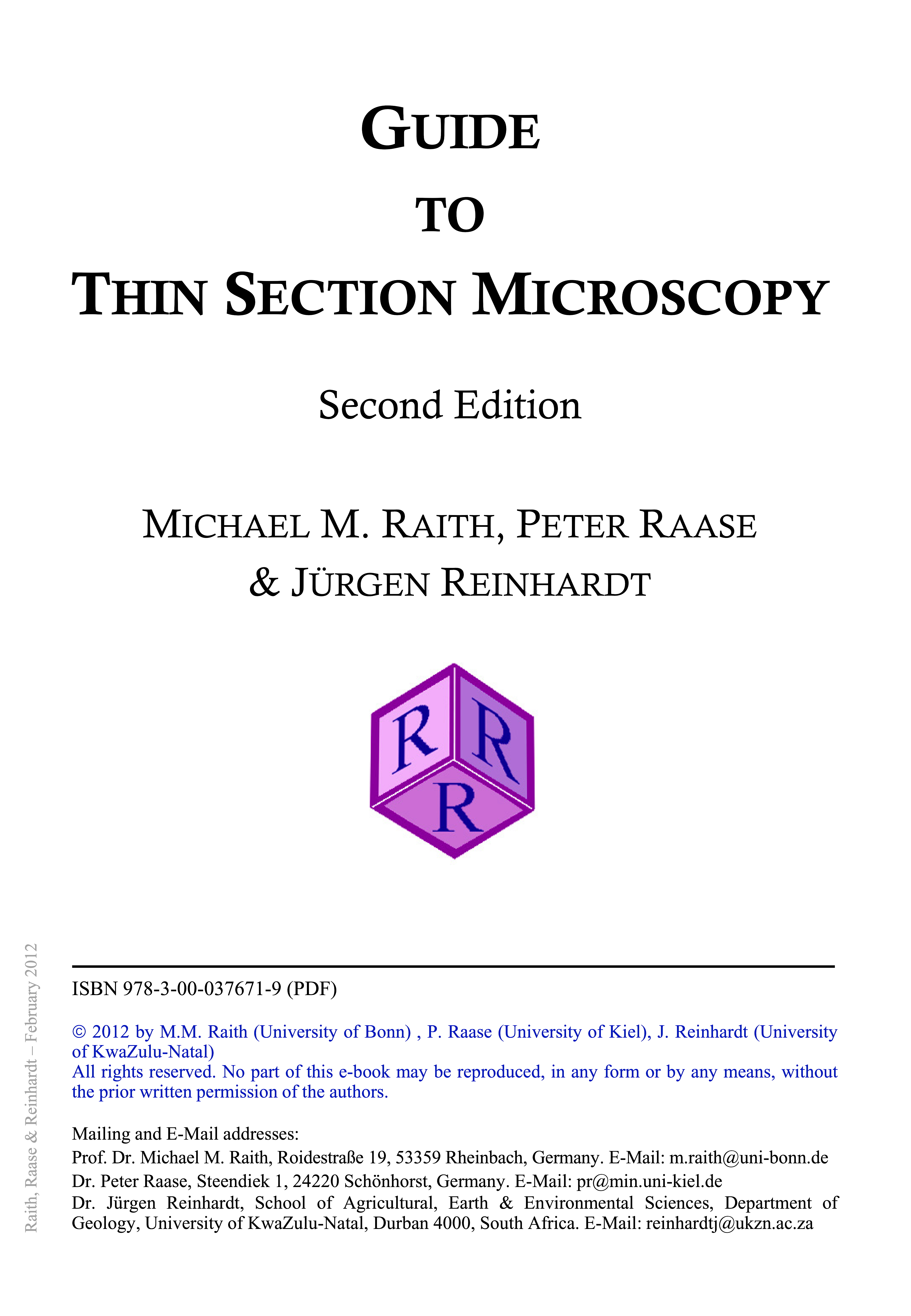 Cover of Guide to Thin Section Microscopy