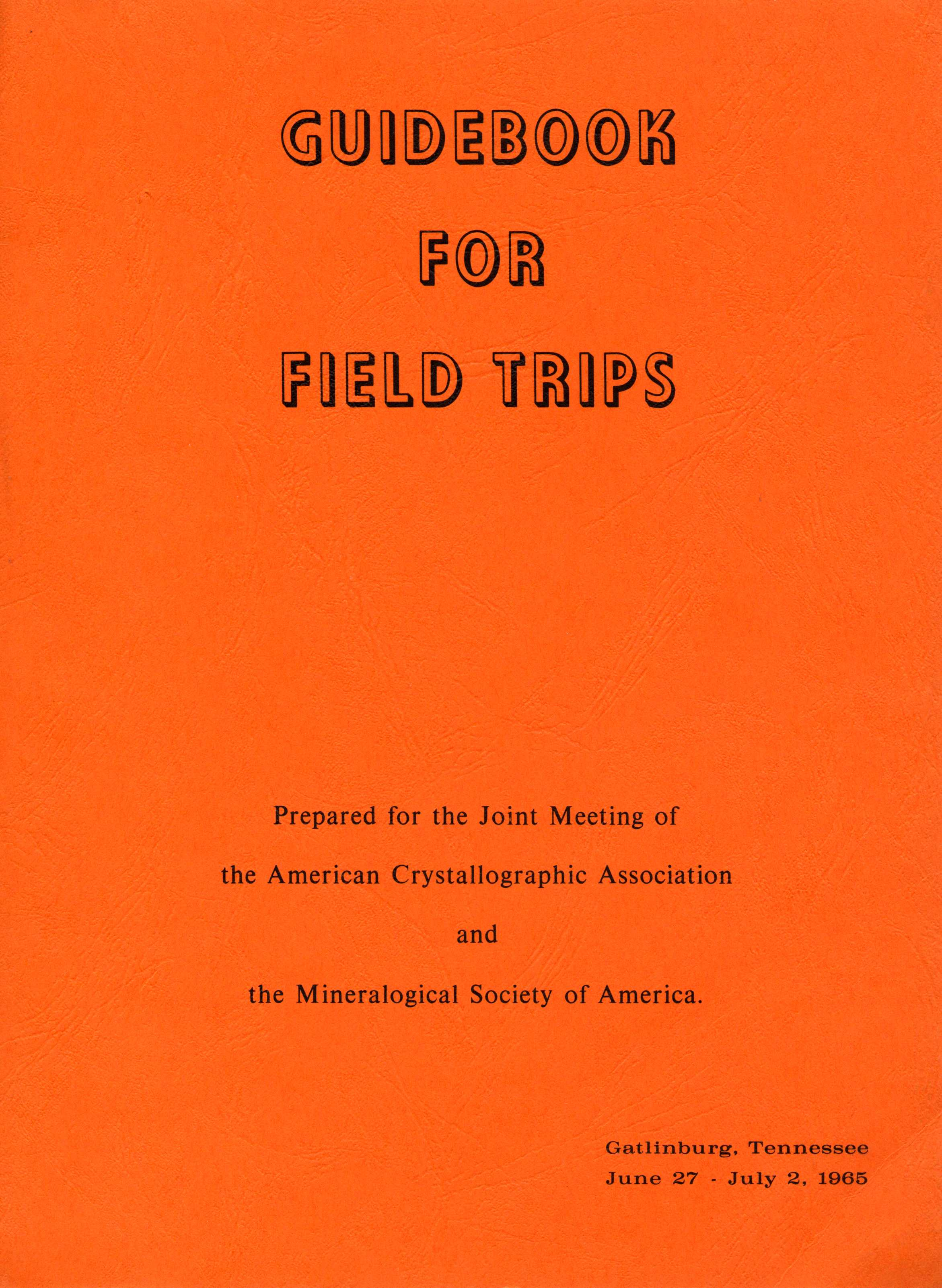 Cover of Guidebook for Fieldtrips