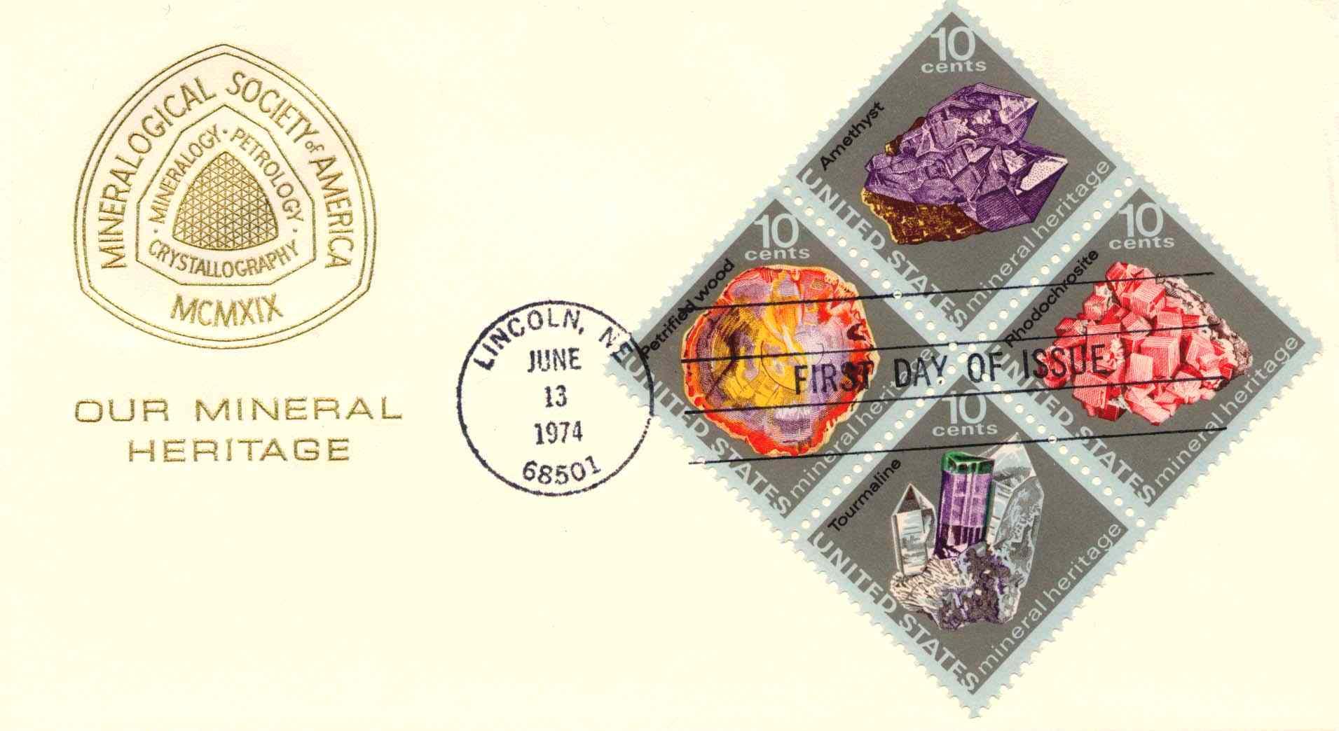 MSA Mineral Heritage First Day Cover