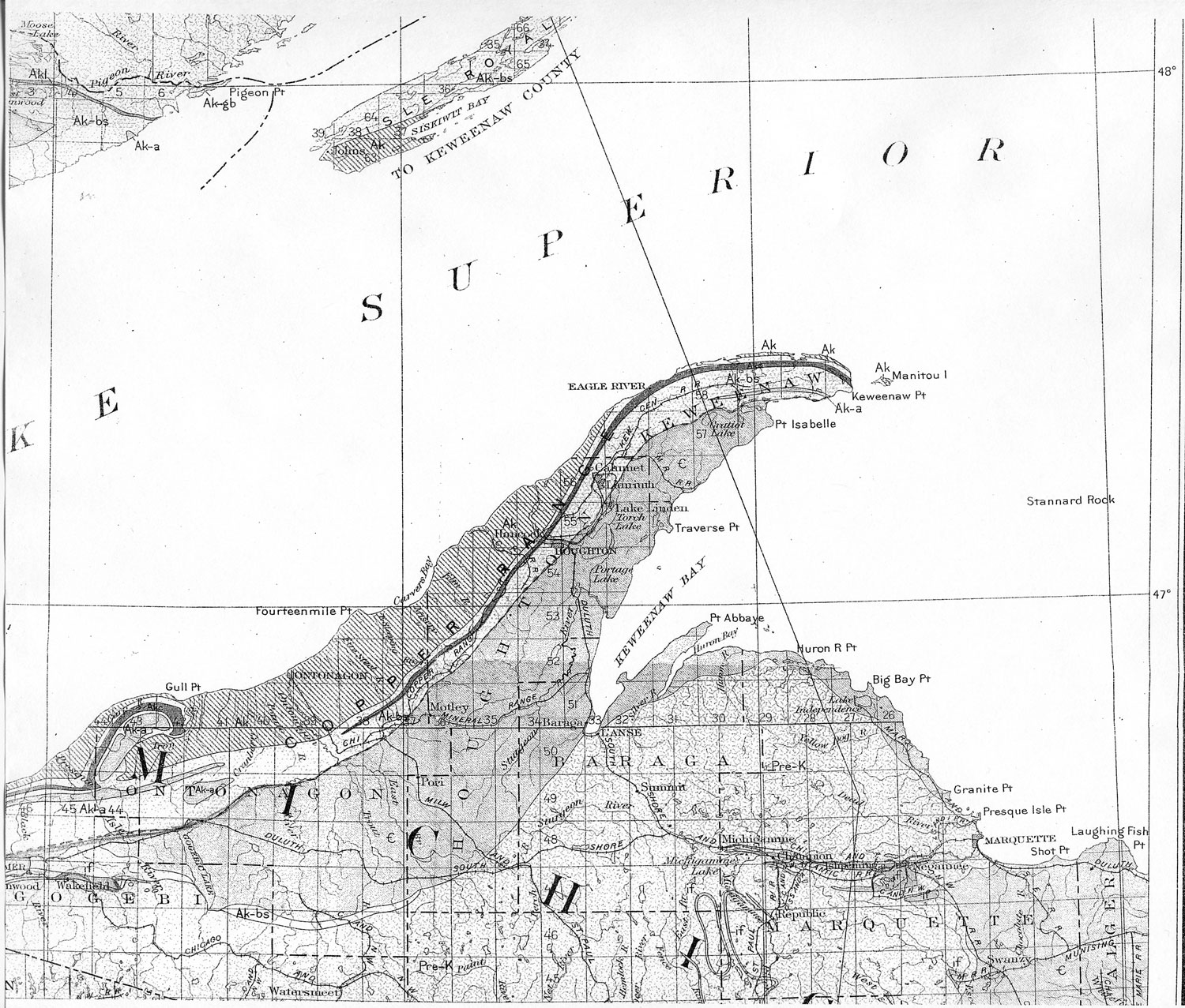 Michigan keweenaw county allouez -  Thinning Of Other Flows Though Some Thin Rather Abruptly As The Mandan Flow North Of Delaware In Keweenaw County And The Thick Flow Above No